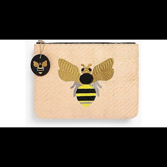NWT Talbots Bee Pouch Clutch in Natural!🐝 672d5198d4